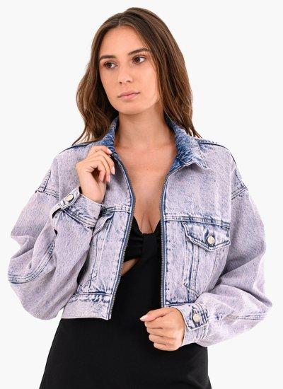 Women Coats - Jackets Rogue.Acid Blue Cotton Pepe Jeans