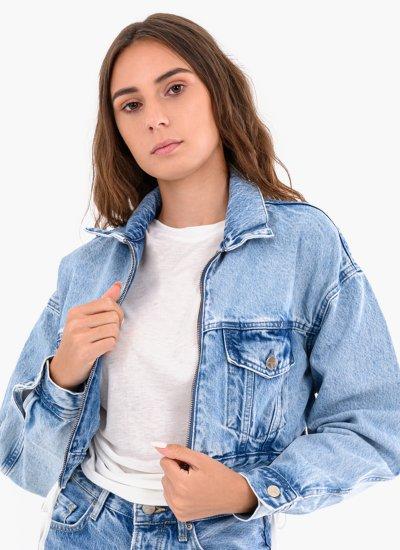 Women Coats - Jackets Rogue Blue Cotton Pepe Jeans