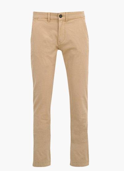 Men Pants Sloane Beige Cotton Pepe Jeans