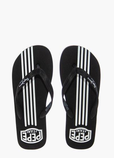 Men Flip Flops & Sandals Swimming.Str Black Rubber Pepe Jeans
