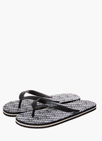 Men Flip Flops & Sandals Swimming Black Rubber Pepe Jeans