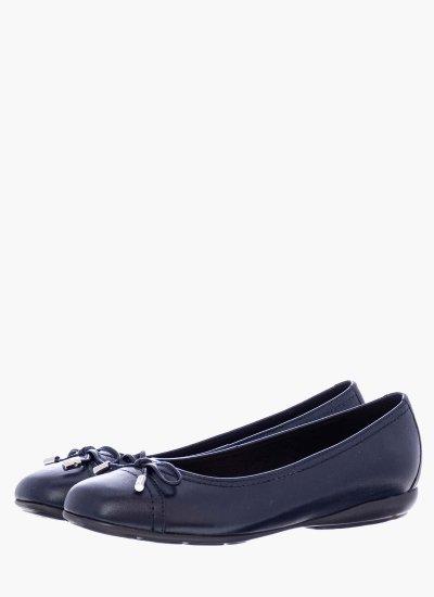 Women Balerinas Annytah.D Blue Leather Geox