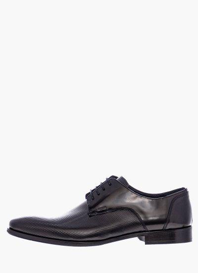 Men Shoes N4972.Rmn Black Leather Boss shoes