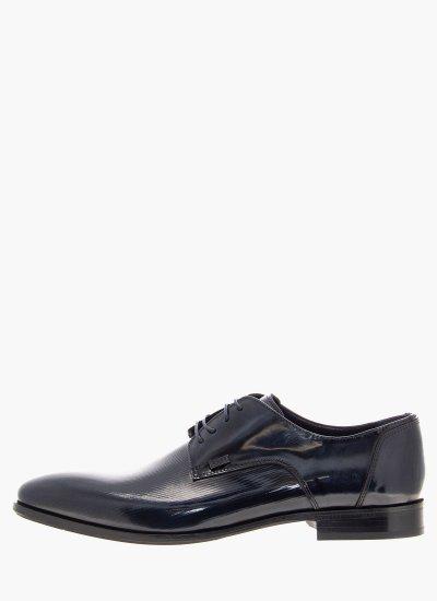 Men Shoes N4972.Rmn Blue Leather Boss shoes