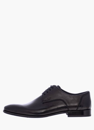 Men Shoes N4972 Black Leather Boss shoes