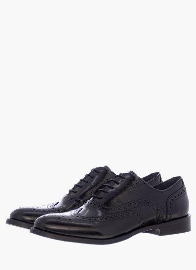 Men Shoes N6330.Flo Black Leather Boss shoes