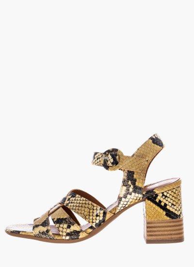 Women Sandals Low 4684 Beige Leather Alpe