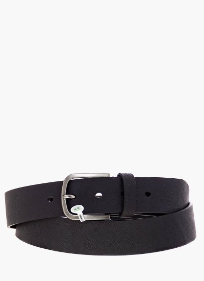 Men Belts Antonio Black Leather La Martina