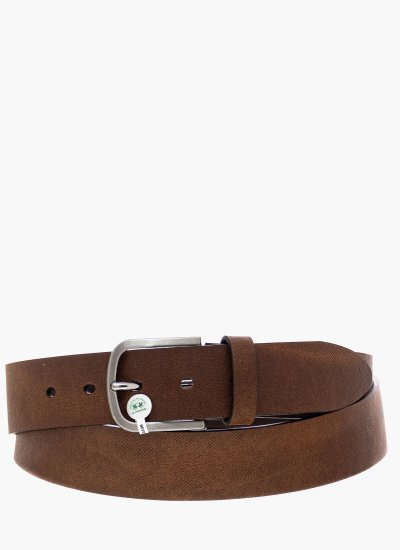 Men Belts Antonio DarkBrown Leather La Martina