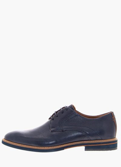 Men Shoes 1052 Blue Leather Damiani