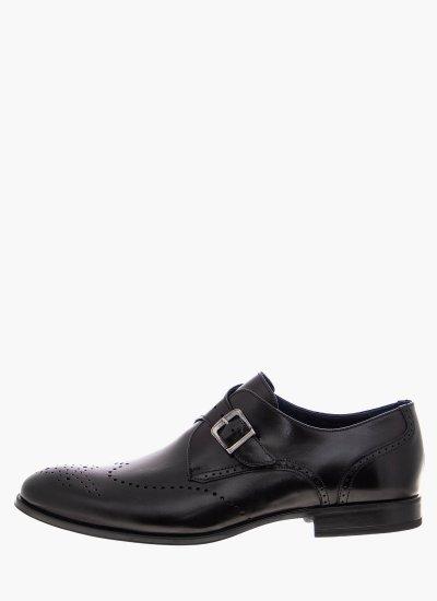 Men Moccasins 1190 Black Leather Damiani