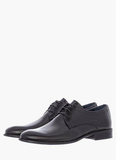 Men Shoes 1192 Black Leather Damiani
