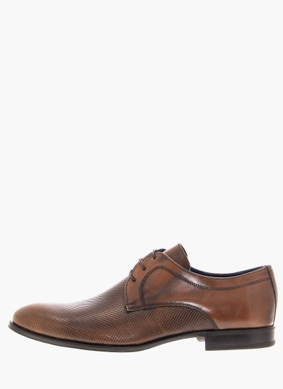 Men Shoes 1192 Brown Leather Damiani