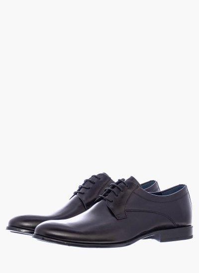 Men Shoes 1197 Black Leather Damiani