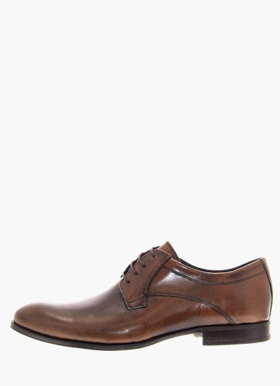 Men Shoes 1197 Brown Leather Damiani