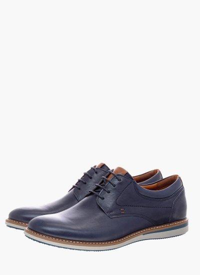Men Shoes 2100 Blue Leather Damiani
