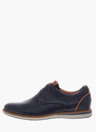 Men Shoes 2101 Blue Leather Damiani