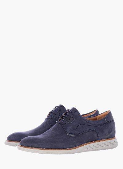 Men Shoes 2200 Blue Nubuck Leather Damiani