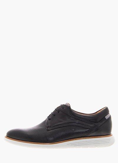 Men Shoes 2201 Black Leather Damiani
