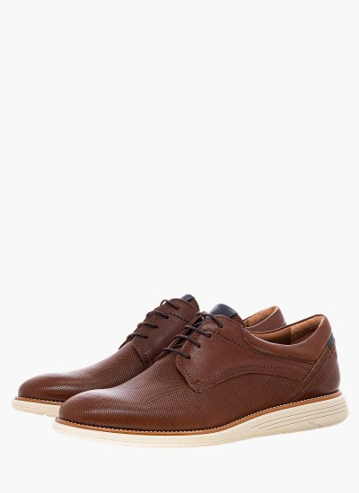 Men Shoes 2201 Brown Leather Damiani