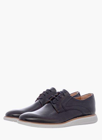 Men Shoes 2202 Black Leather Damiani
