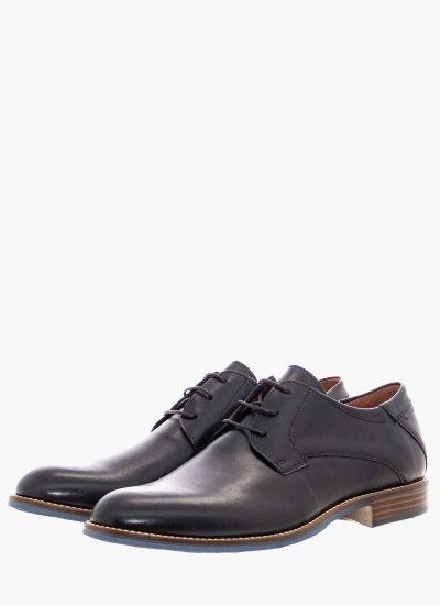 Men Shoes 2352 Black Leather Damiani