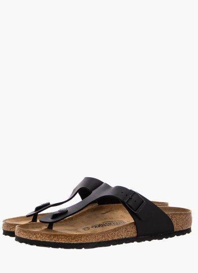 Men Flip Flops & Sandals Gizeh.Bs.M Black Eco-Leather Birkenstock