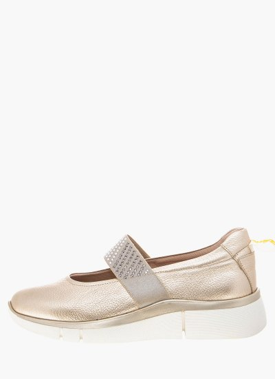 Women Balerinas 24450 Sand Leather 24HRS