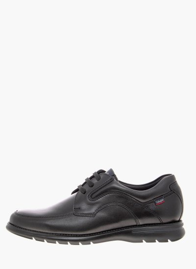 Men Casual Shoes 14205 Black Leather Callaghan