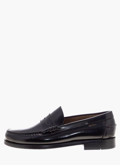 Men Moccasins 16100.F Black Shiny Leather Callaghan
