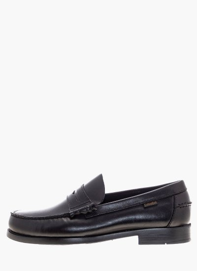 Men Moccasins 16100 Black Leather Callaghan
