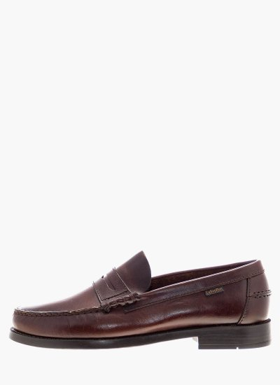 Men Moccasins 16100 Brown Leather Callaghan