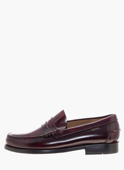 Men Moccasins 16100 Bordo Shiny Leather Callaghan