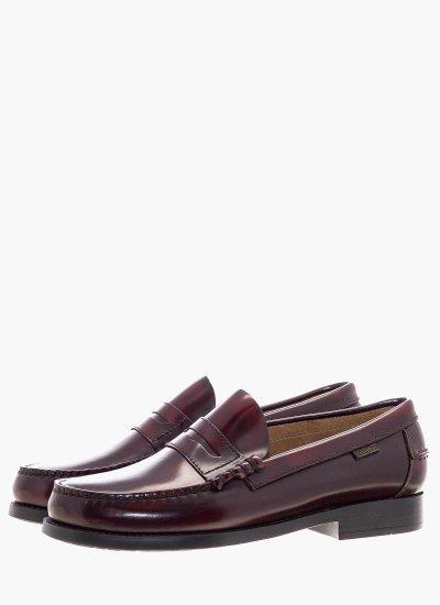 Men Moccasins 16100 Bordo Shiny Leather Callaghan