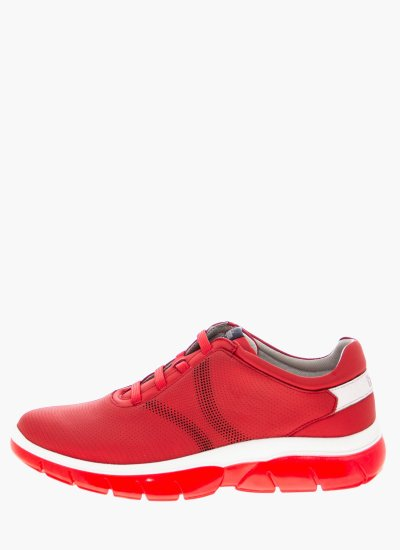 Men Casual Shoes 42700 Red Leather Callaghan