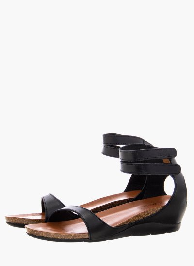 Women Platforms Low Sof.200 Black Leather Take me
