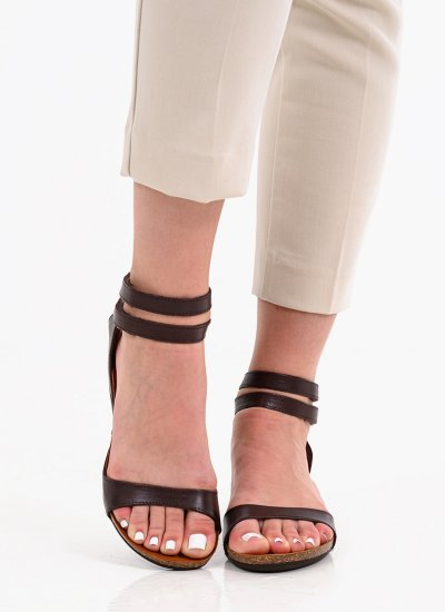 Women Platforms Low Sof.200 Brown Leather Take me