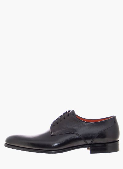 Men Shoes 1105 Black Leather Philippe Lang