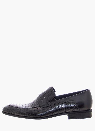 Men Moccasins 3639 Black Leather Philippe Lang