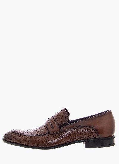 Men Moccasins 3639 Brown Leather Philippe Lang