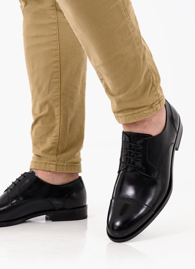 Men Shoes 3944 Black Leather Philippe Lang