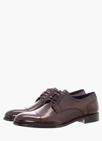 Men Shoes 3944 DarkBrown Leather Philippe Lang
