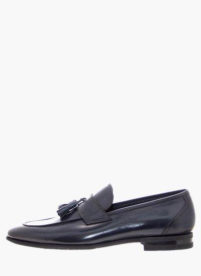 Men Moccasins 5493 DarkBlue Leather Philippe Lang