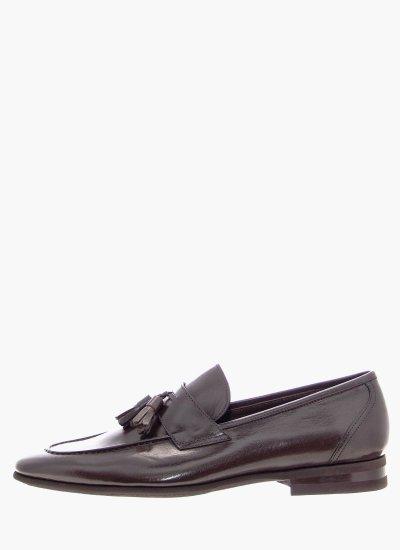 Men Moccasins 5493 DarkBrown Leather Philippe Lang