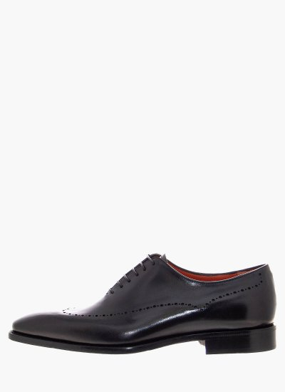 Men Shoes A815 Black Leather Philippe Lang