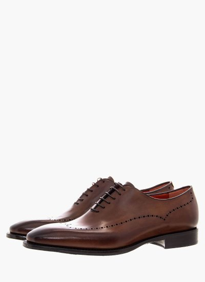 Men Shoes A815 Brown Leather Philippe Lang