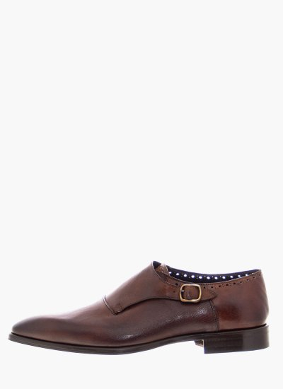 Men Moccasins A848 Brown Leather Philippe Lang