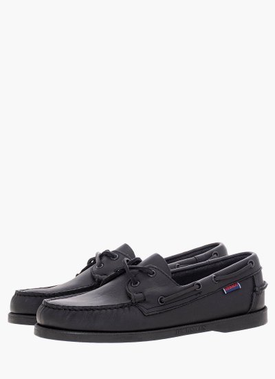 Men Sailing shoes L7000H00 Black Leather Sebago