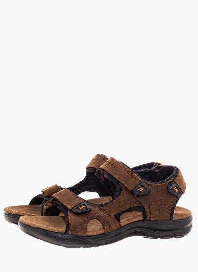 Men Flip Flops & Sandals Earth Brown Oily Leather Lumberjack