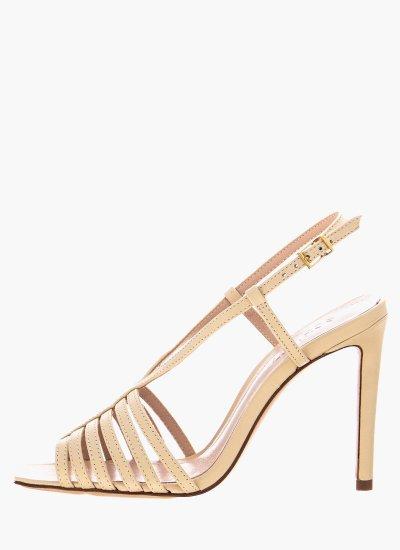 Women Sandal High S20744.0016.N Beige Leather Schutz